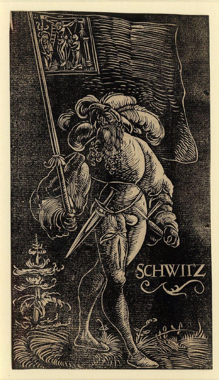 Standard Bearer of Schwyz by Urs Graf, 1521