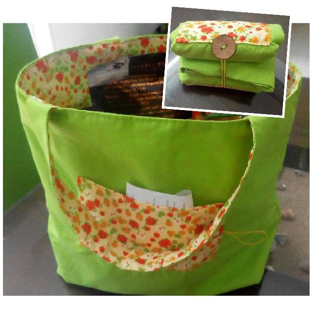 Folding shopping bag. Tas belanja lipat