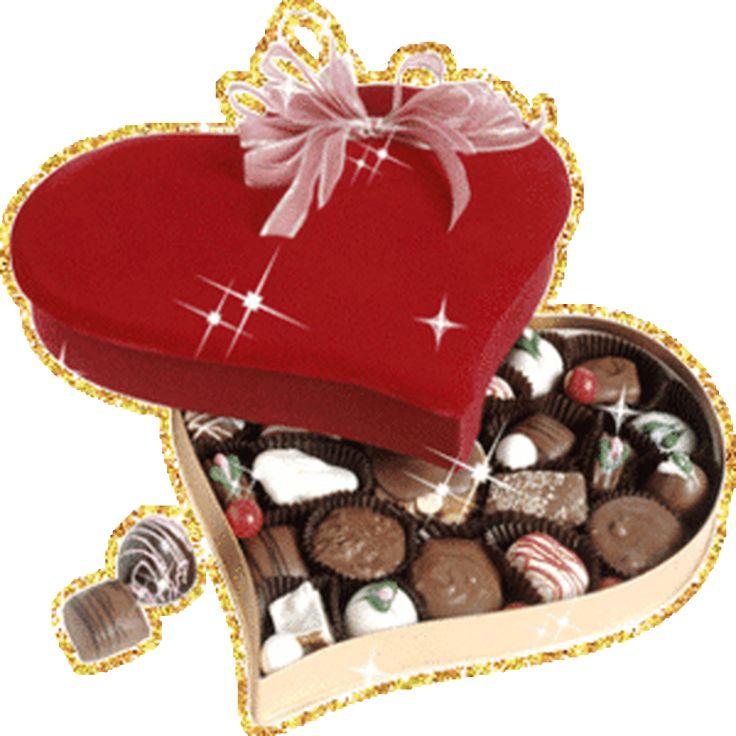 Поздравление, анимационные открытки конфеты