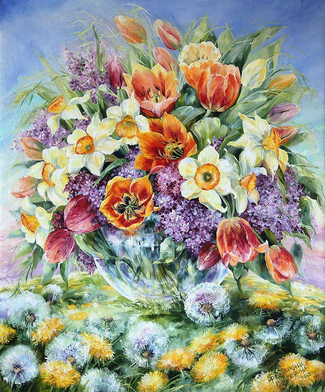 Картины - Цветы - Праздник май (Холст, масло)