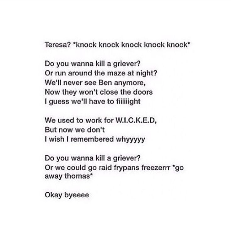 I laughed way too hard!!!! But if it was Teresa singing the song why did thomas say go away Thomas???