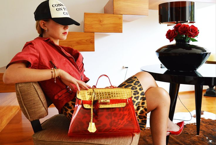 Lock Bicolor – Cocco Oro/Rossa  #bag #fashion #pvc #glamour #outfit #trend #beauty