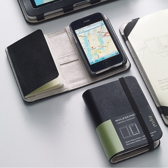Moleskin Iphone Cover. OMG. combination of my two loves. $55