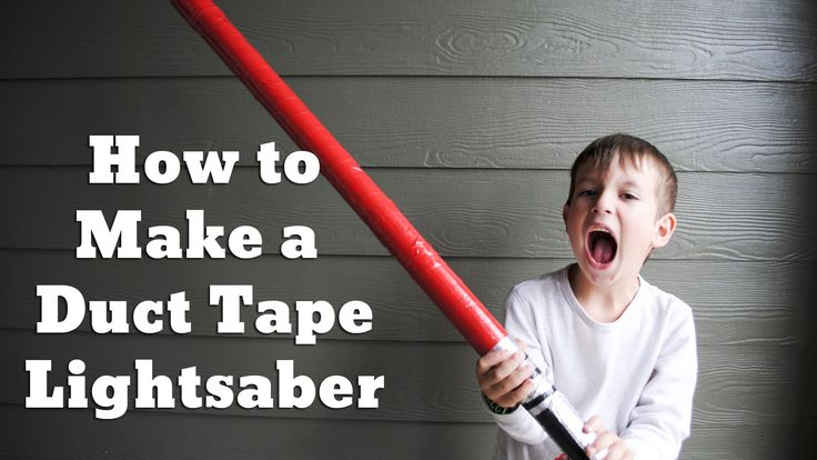 How to Make a Duct Tape Lightsaber for National Star Wars Day. May the Fourth