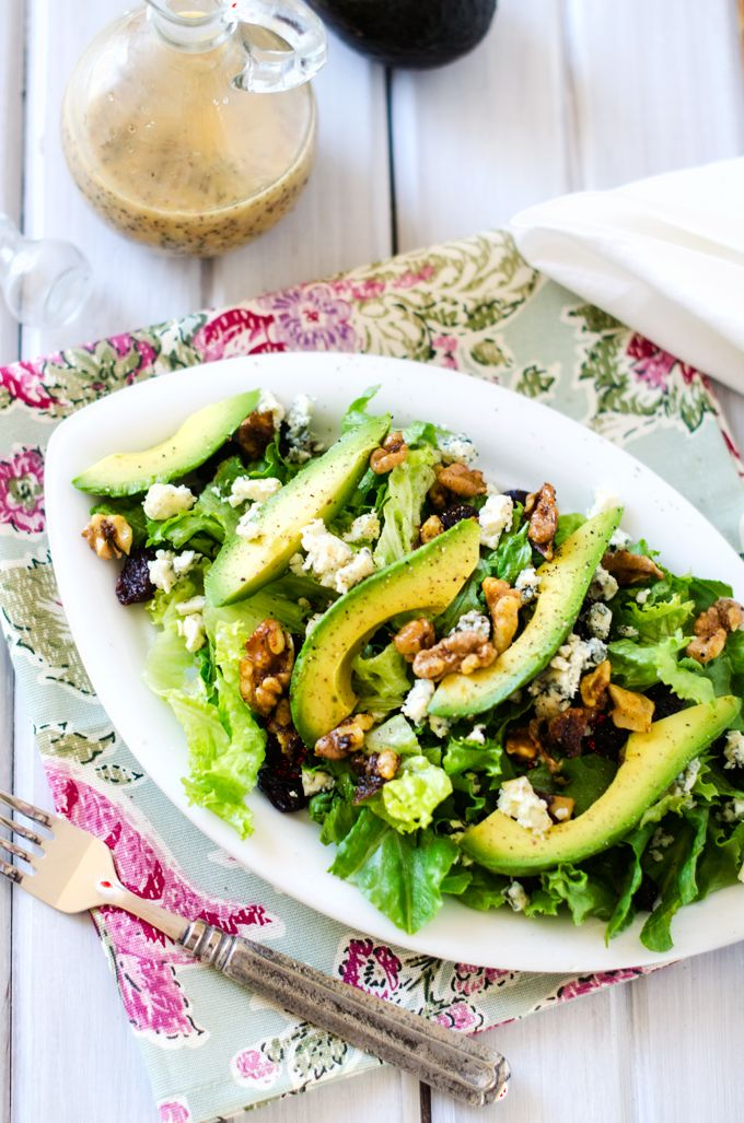 Cranberry Avocado Blue Cheese Salad - Quite simply, this avocado salad is amazing. You'll want it every day but it is perfect for a special occasion.