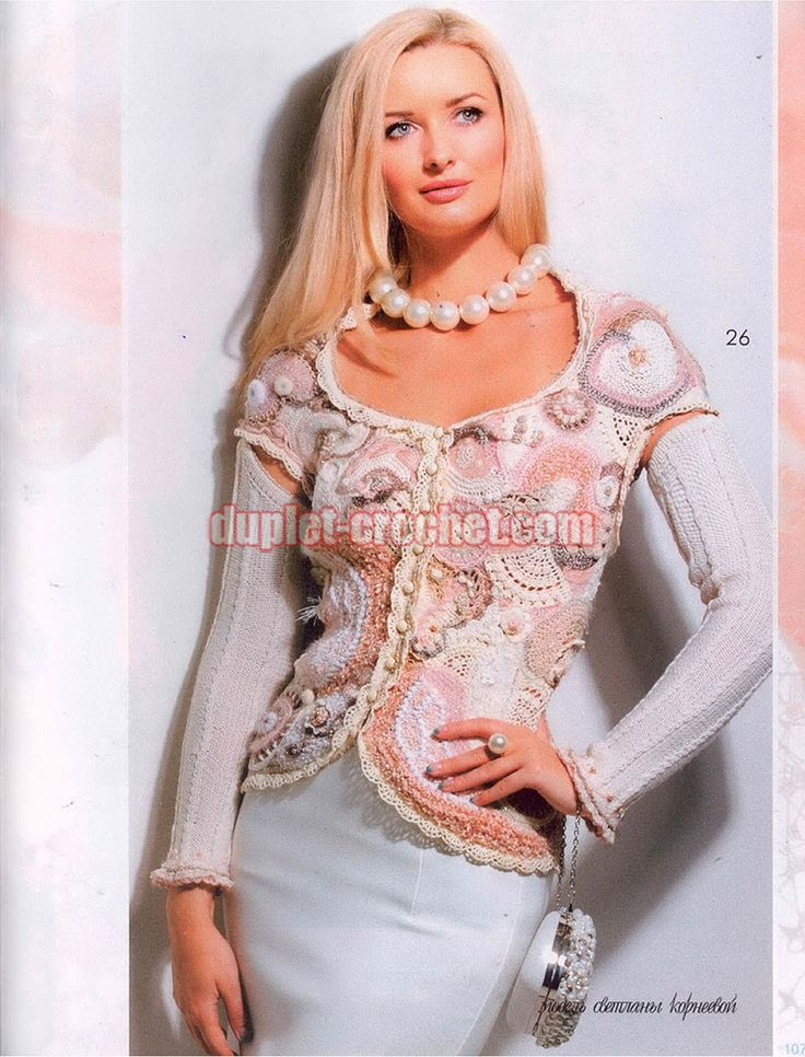 May 2015 Zhurnal MOD 585 Russian crochet n knit patterns
