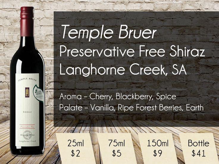 Temple Bruer - preservative free Shiraz from Langhorne Creek