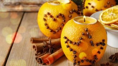 Ozdobna świeczka z pomarańczy | Święta w Tesco