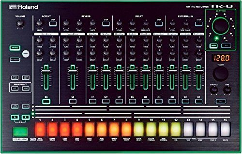 Roland Aira TR-8 Rhythm Performer  Full reproduction of the original TR-808 and TR-909  Build dream kits made up of different instruments from the TR-808 and TR-909  16 stunning kits made up of 11 instrument types  Control Accent function intensity with a dedicated knob  Per-step Gate Reverb and Delay effects with dedicated, realtime knobs