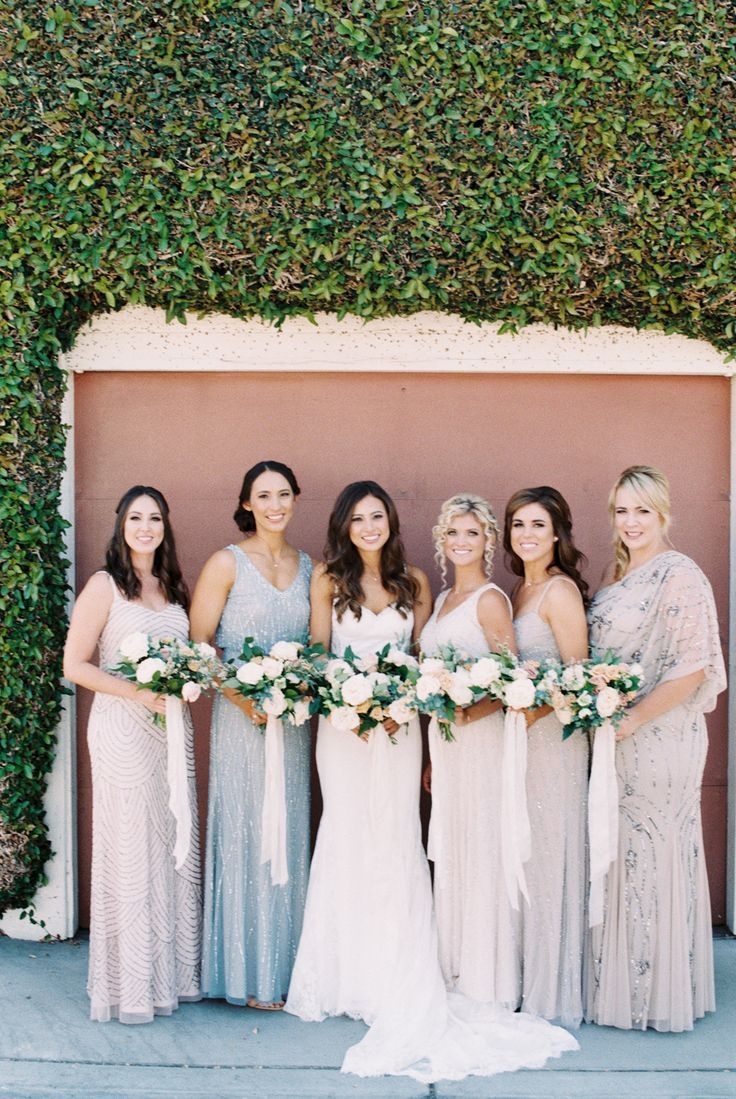 The 25 best metallic bridesmaid gowns ideas on pinterest pastel infused celebration in the rose garden pastel and metallic bridesmaids gowns ombrellifo Image collections
