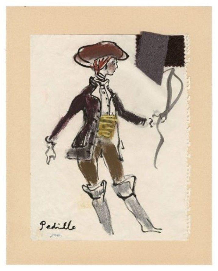 2483845e90d Croquis original d Yves Saint Laurent. Document Musée Yves Saint Laurent.