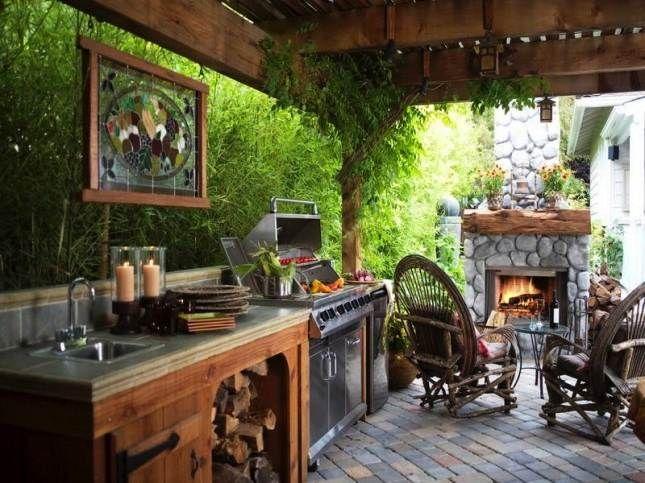 NapadyNavody.sk | 25 piękne kuchnie na świeżym powietrzu
