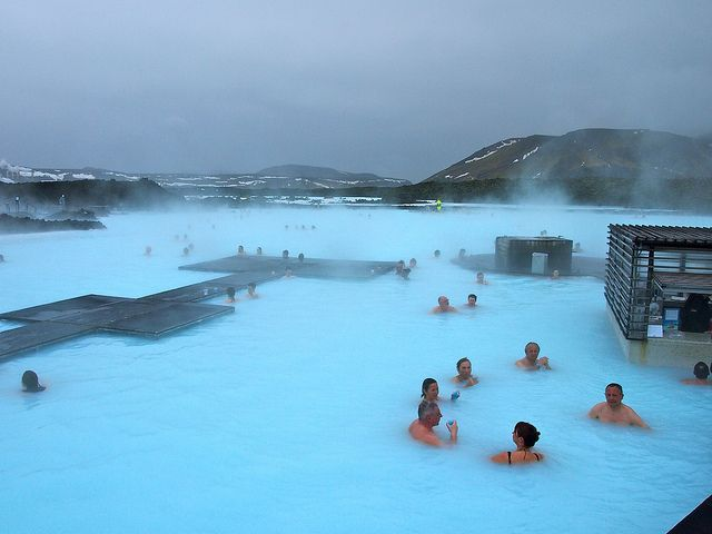 Blue Lagoon, in Iceland.  Its like the ultimate hotspring ;).  Time to get wet and muddy and relaxed :)