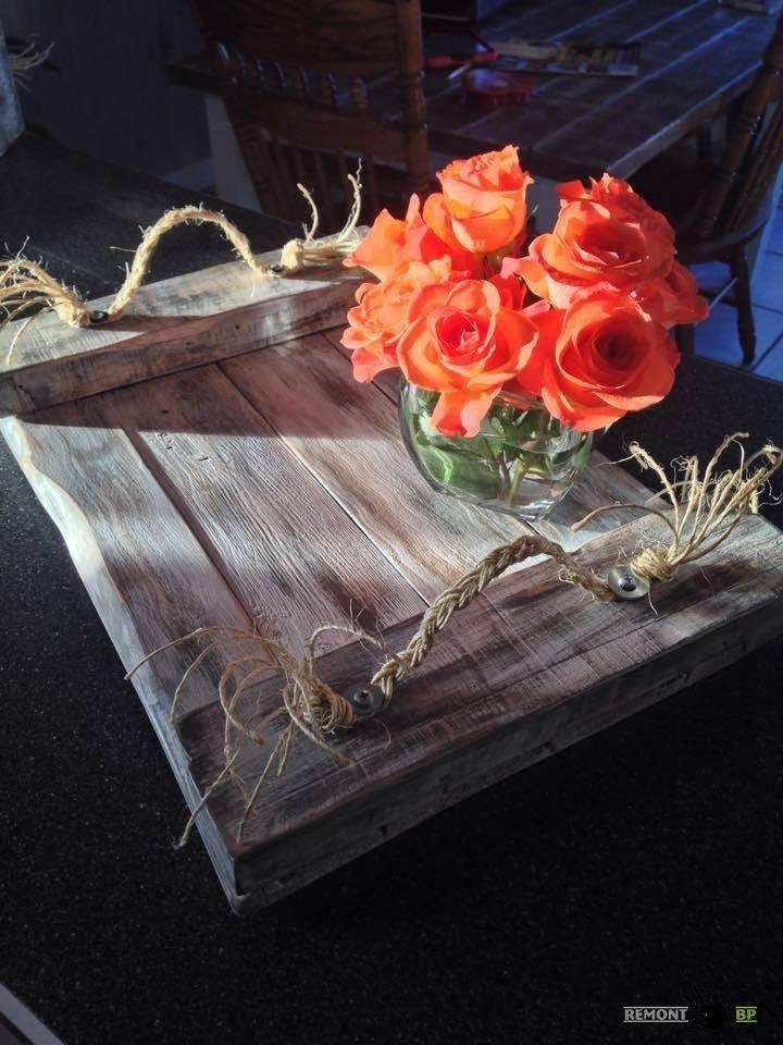 Поднос 100 идей создания предметов мебели и декора из поддонов