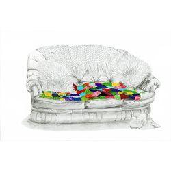 Granny's sofa Illustration - thebigfatpeacock.com