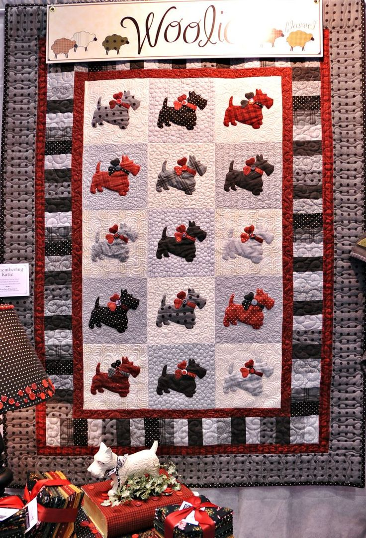 Scotty dog quilt, I need to make one of these