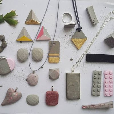 DIY concrete jewelry                                                                                                                                                                                 More
