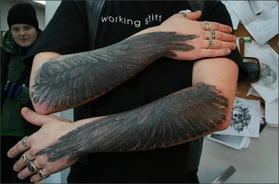 17 best images about wing tattoos on pinterest feathers for Eagle wings tattoo