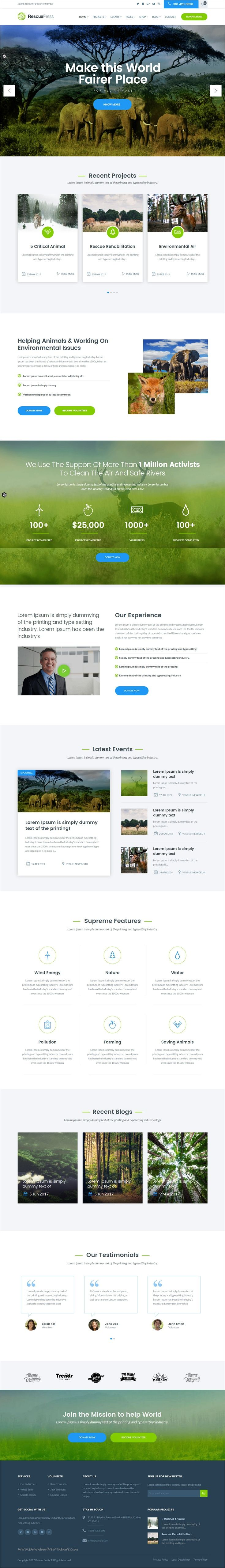 RescuePress is clean and modern design 2in1 responsive #WordPress theme for #environmental protection, charity and #nonprofit organizations website download now > https://themeforest.net/item/rescuepress-save-environment-wordpress-theme/19720435?ref=Datasata