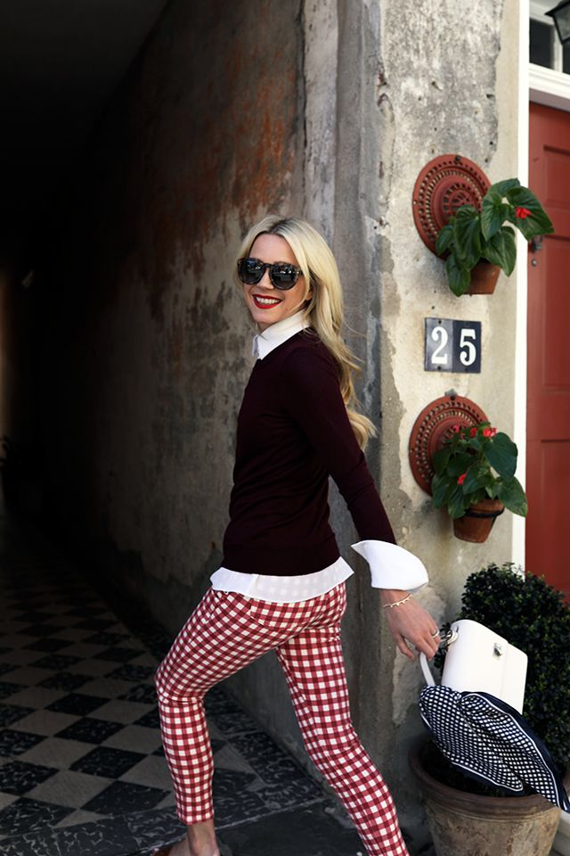 Atlantic Pacific - love these red gingham pants http://m.shop.nordstrom.com/s/madewell-high-riser-gingham-crop-skinny-pants/4592170