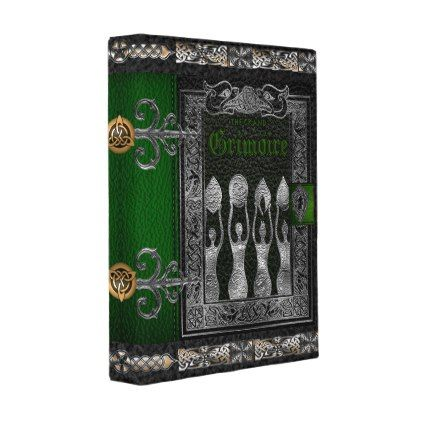 The Grand Grimoire Witches Book Of Shadows Mini Binder - gold gifts golden customize diy