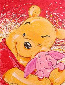 Winnie the Pooh - VIP - Very Important Piglet - David Willardson - World-Wide-Art.com - $550.00 #Disney #Pooh #Piglet