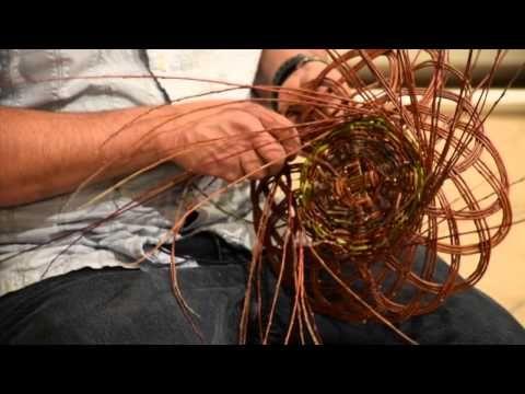 Carlos Herrera demonstrates Pueblo basketmaking - YouTube