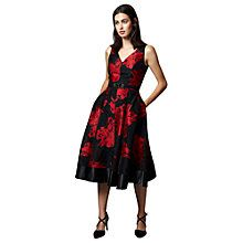 Buy Phase Eight Collection 8 Aviana Placement Dress, Black/Ruby Online at johnlewis.com