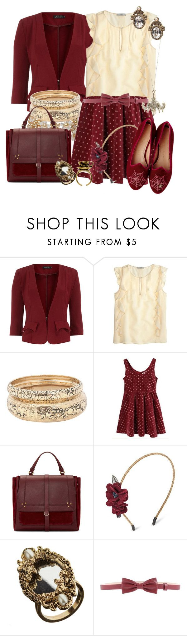 """""""Thornton Hall's Living Room [Ghost of Thornton Hall]"""" by detectiveworkisalwaysinstyle ❤ liked on Polyvore featuring Dorothy Perkins, J.Crew, Forever 21, Jérôme Dreyfuss, Capsule By Cara, Miss Selfridge, Charlotte Olympia, Viktor & Rolf and living room"""