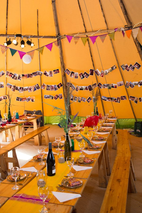 Vintage, festival wedding tipi - Glastonbury, Somerset