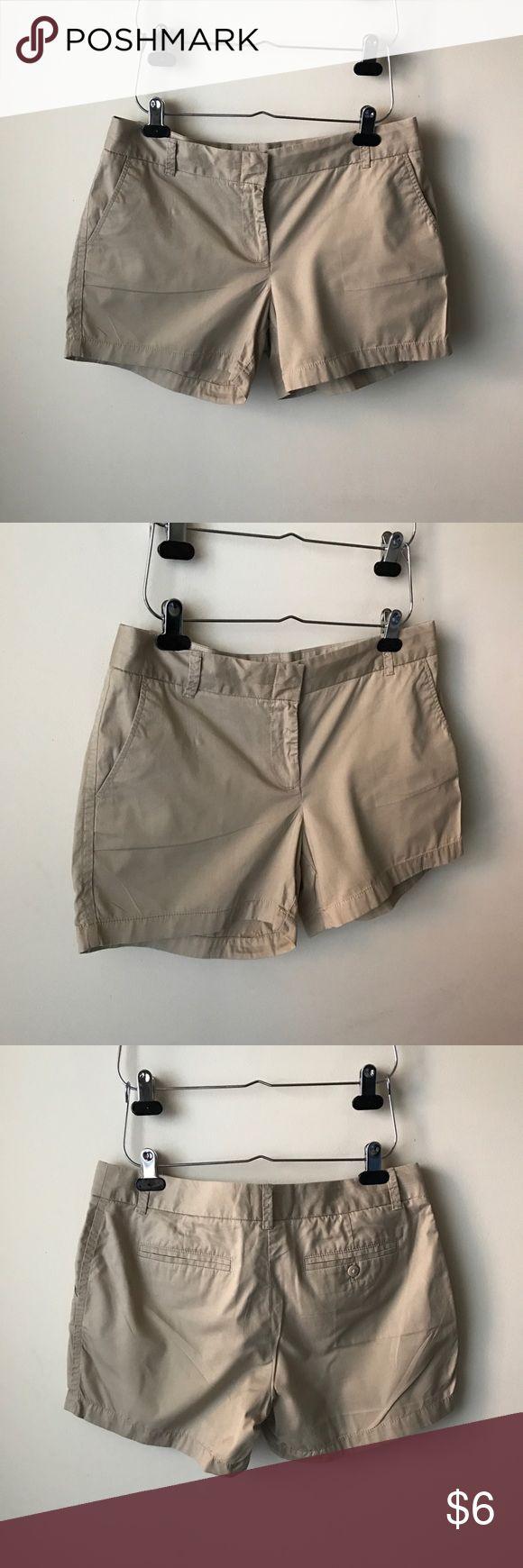 J. Crew Factory tan chino shorts Broken in chino style shorts - pockets - cotton - size 10 J. Crew Factory Shorts