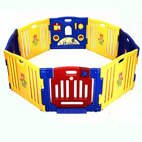 Costzon Baby Playpen Kids 8 Panel Safety Activity Center Play Zone. For price & product info go to: https://all4babies.co.business/costzon-baby-playpen-kids-8-panel-safety-activity-center-play-zone/
