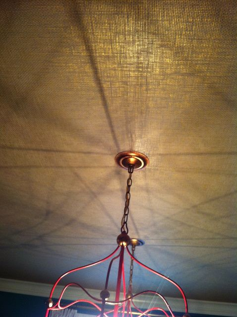 Hmmmm....Metallic Grasscloth on ceiling from I Suwannee...for tray ceiling in master bedroom (?)