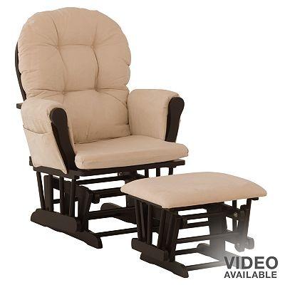 Stork Craft Hoop Glider Chair & Ottoman Set  Rocking chairs, Chairs ...