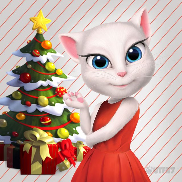 This festive tree is so beautiful. I just stare at it and admire it. I take a moment and truly appreciate how lucky I am to have all of you, my #LittleKitties. And my BFF's. I saw Talking Tom running around with some mistletoe, how strange is that?! … xo, Talking Angela #festive #festivetime #TalkingAngela #MyTalkingAngela #party #Glitter #2016 #makeup #motd #NewYear #TalkingTom #Mistletoe #tree #magic