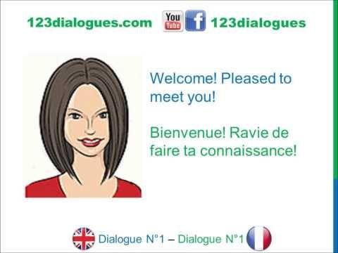 ▶ Dialogue 1 - English French Anglais Français - Hi What's your name? - Bonjour Comment t'appelles-tu? - YouTube