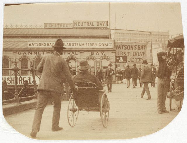 People at Circular Quay Sydney, ca. 1885-1890