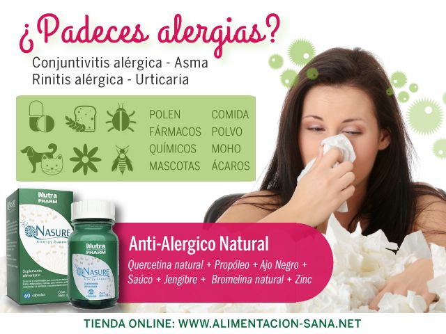 Cuidate de las alergias de forma natural! #alergias #asma #primavera #polen #congestion #quercetina