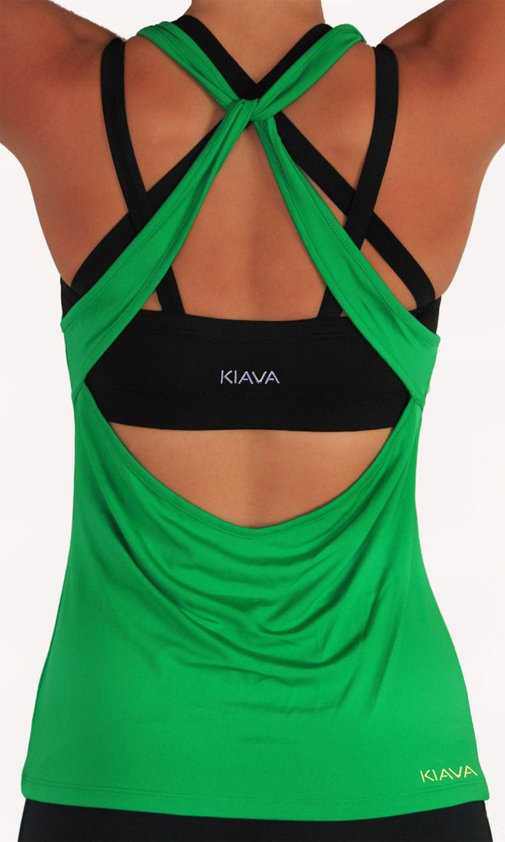 I wouldn't dare to wear this but I LOVE IT! Cute knotted back/low cut workout top from #kiava #workouttops