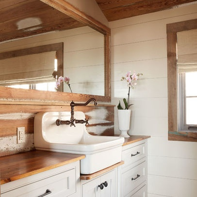 Bathroom farm sink farm sink tile cottage design ideas for Cottage bathroom ideas renovate