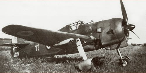 Dutch fighter Koolhoven FK-58 in the air force of France