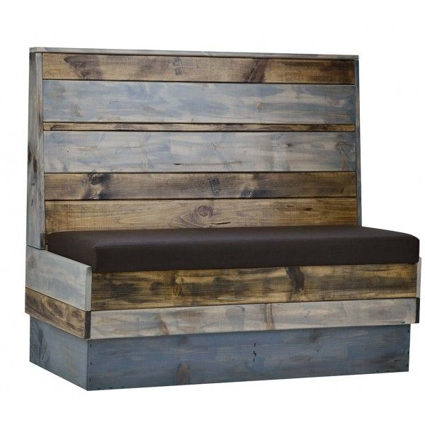Our customers can't get enough of our reclaimed wood booth seating. Shop online today http://contractfurniture.com/restaurant-hospitality-furniture/wood-back-industrial-booth-seating/