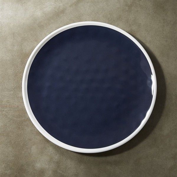 Crate & Barrel Regatta Melamine Dinner Plate (280 THB) ❤ liked on Polyvore  featuring