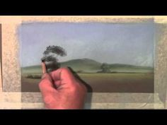 Moody Views summer trees in pastel pencil(1/2) - YouTube