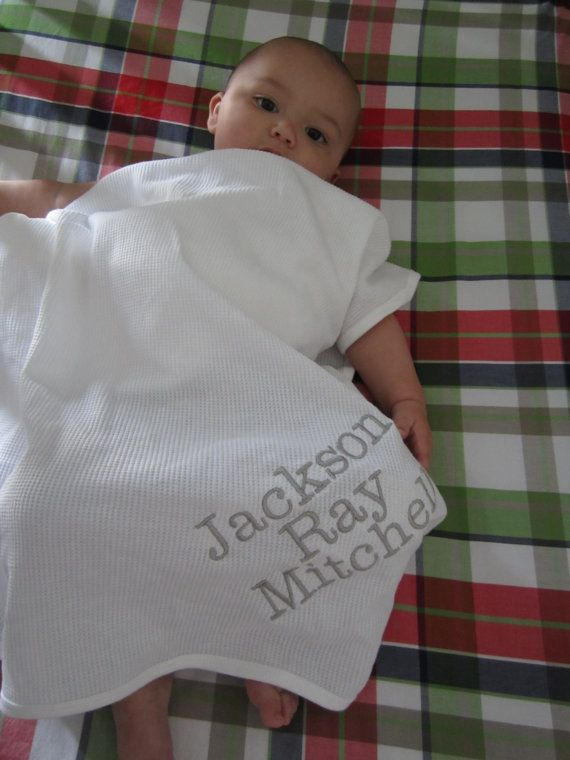 21 best personalized baby blankets images on pinterest monogrammed baby blanket newborn gift by theinitialgift on etsy negle Gallery