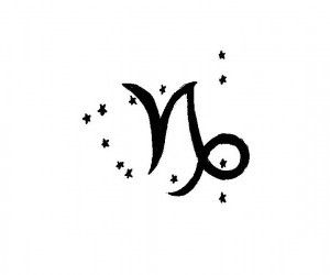 Capricorn with constellation; I love this so much! It'd fit me really well!