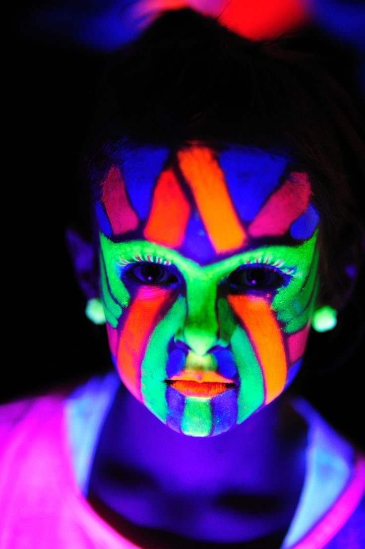 Black Light Face Paint Ideas, Tags: Biological make up , Glow In ...
