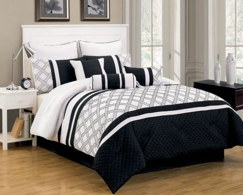Black And White Comforter Sets Queen Bedroom Sets... | Home Decor Ideas