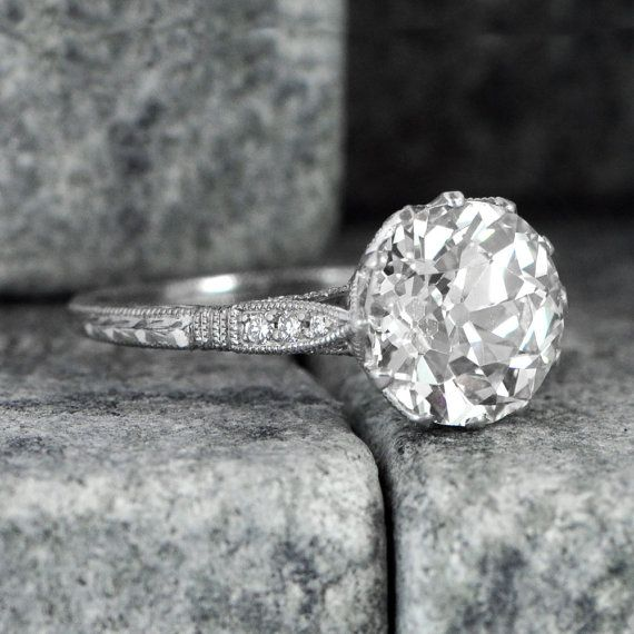 Vintage Engagement Ring  Antique Diamond by EstateDiamondJewelry
