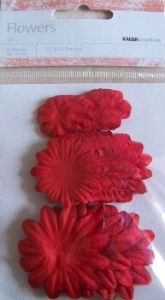 Kaisercraft Paper Flowers ~ Mixed Sizes ~ Poppy | Always Treasured Scrapbooking